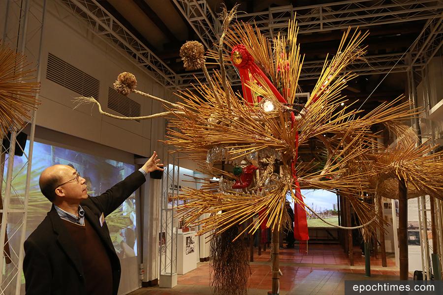 三棟屋博物館自2月11日起舉辦「口傳心授系列II:香港非物質文化遺產代表作名錄」展覽。圖為中秋節——薄扶林舞火龍展品。(陳仲明/大紀元)