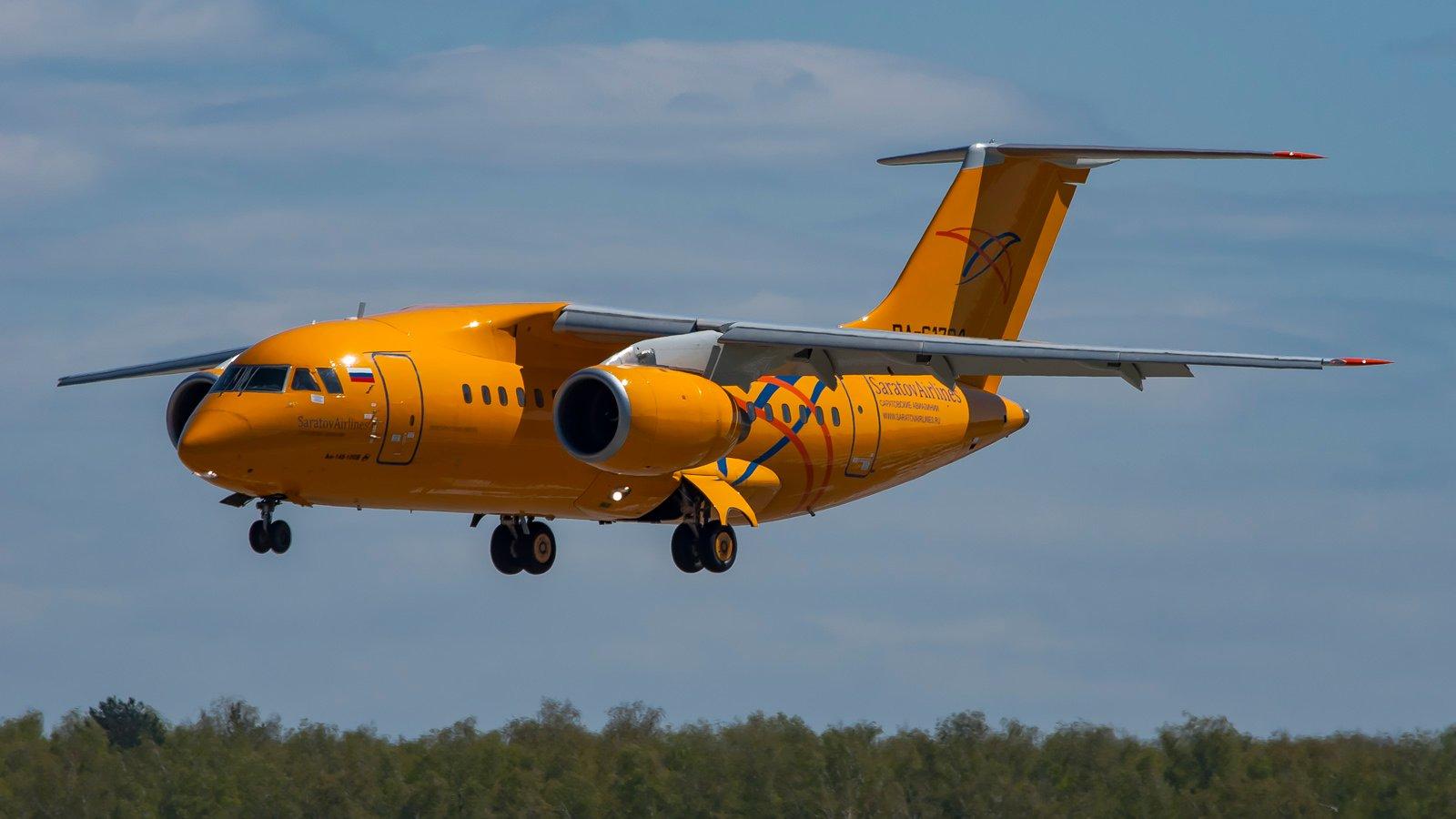 周日(2月11日),俄羅斯薩拉托夫航空(Saratov Airlines)一客機在莫斯科附近地區墜毀,機上的乘客加上機組人員,共71人,恐怕全部遇難。圖為薩拉托夫航空一架同型號Antonov AN-148飛機示意圖。(安托諾夫國營公司)