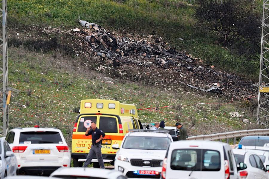 以色列F-16戰機遭敘利亞擊落 伊朗無人機惹禍