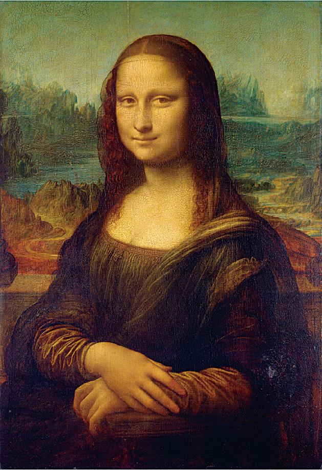 達文西在1503到1506年間在佛羅倫斯所作的油畫《蒙娜麗莎》。