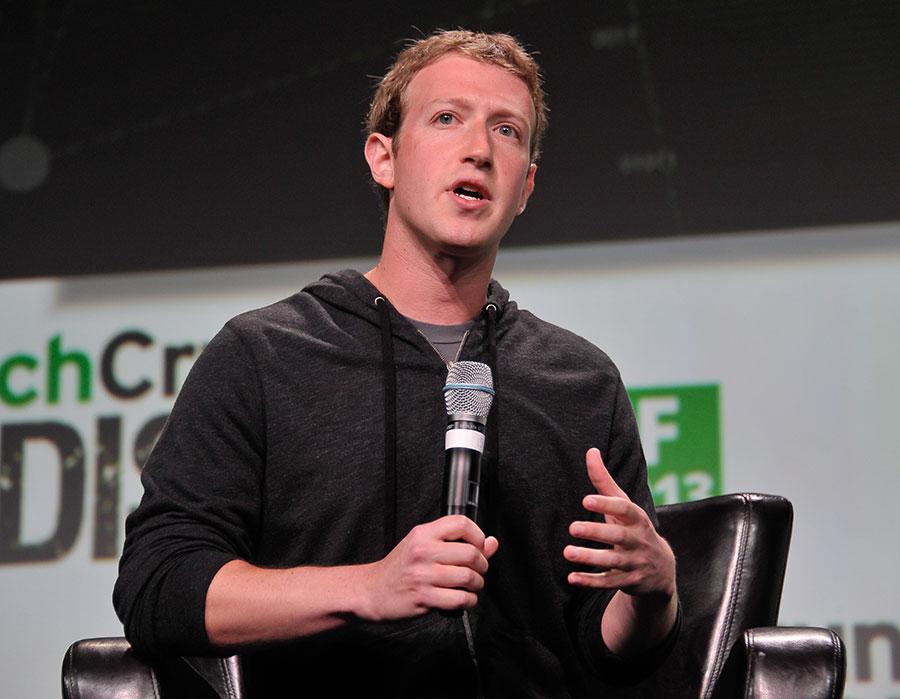 Facebook創始人兼行政總裁馬克・朱克伯格(Mark Zuckerberg)是鎂光燈下的名人,他的日常生活也備受關注。(Steve Jennings/Getty Images for TechCrunch)