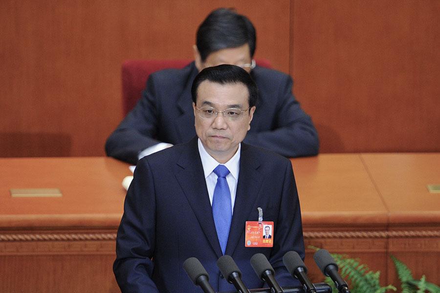 在過去5年多來,李克強推行的官員放權改革舉步維艱,為此專門召開了50多次中共國務院常務會。(WANG ZHAO/AFP/Getty Images)
