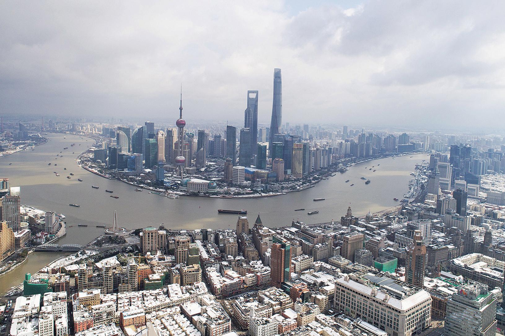 中共上海官場換屆結束。從新一屆上海高層人事調整來看,有很多不尋常地方。圖為上海。(Getty Images)