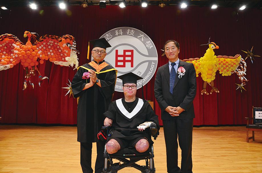 2017年6月,黃博煒大學畢業。(黃博煒提供)
