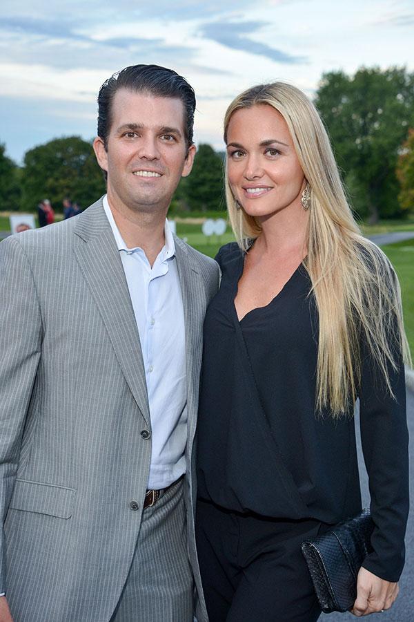 小唐納德・特朗普和妻子凡妮莎・特朗普。(Grant Lamos IV/Getty Images)