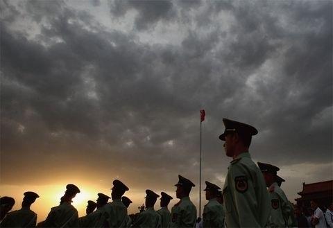 中共軍報報道,軍隊產生了269名全國人大代表,但是卻沒有披露代表的名單。(Feng Li/Getty Images)
