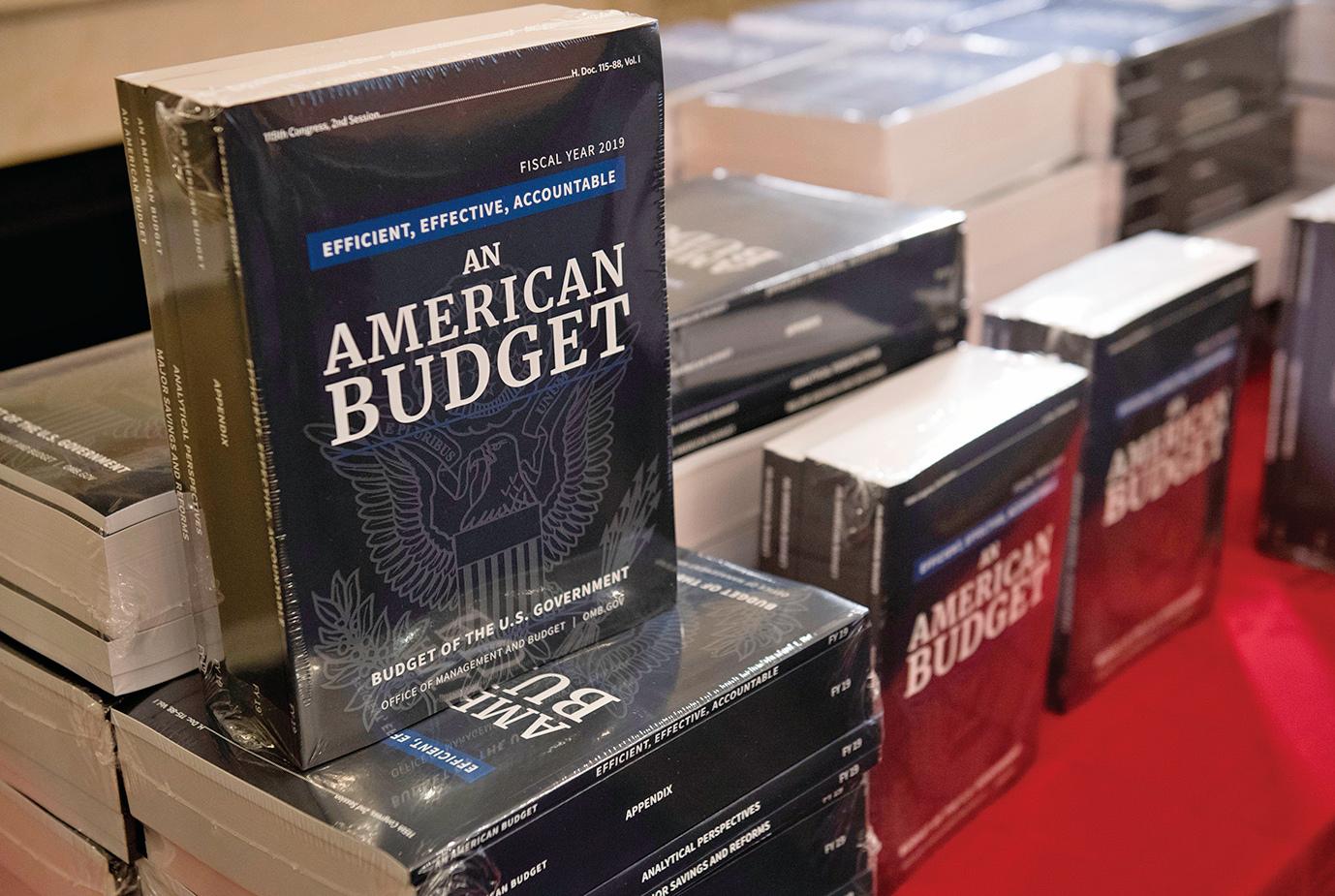 2月12日白宮公布聯邦政府2019財年預算,總計4.4萬億美元。(AFP)