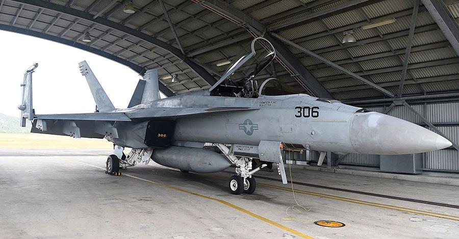 外傳台灣空軍有意採購美國F/A-18「大黃蜂」戰鬥機,加強台灣空優戰力。(Ian Hitchcock/Getty Images)