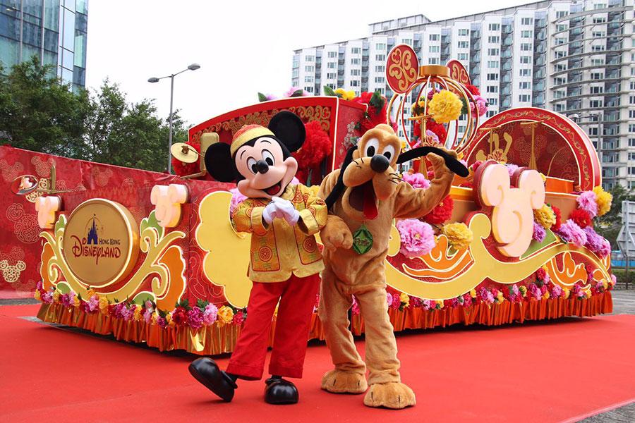 香港迪士尼樂園的花車。(圖片來源:拉闊style)