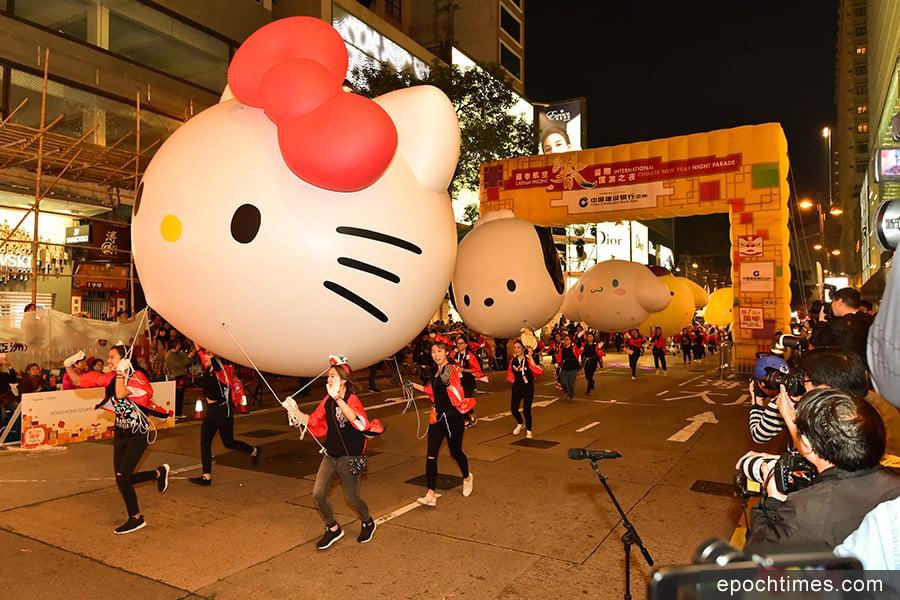 日本Sanrio明星隊。(郭威利/大紀元)