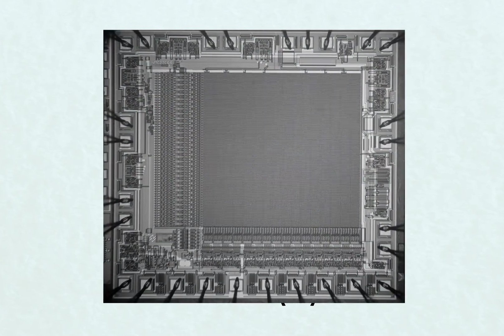 晶片成品模擬圖。(YouTube視像擷圖)
