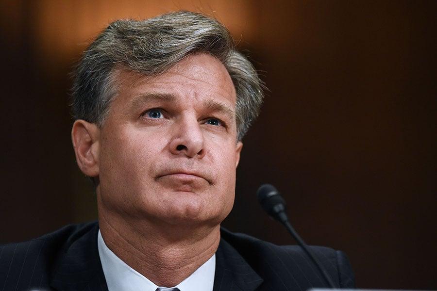 聯邦調查局局長雷(Christopher Wray)。(AFP/Getty Images)