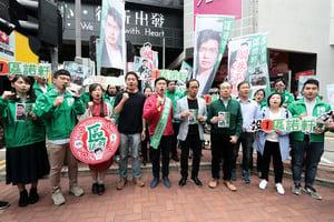 區諾軒新年巡遊 泛民籲以選票發聲
