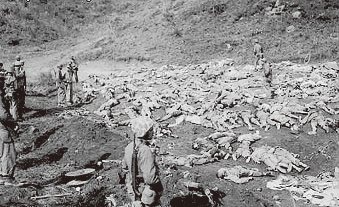韓戰期間,中共的人海戰術造成中國士兵死傷慘重。(公有領域)