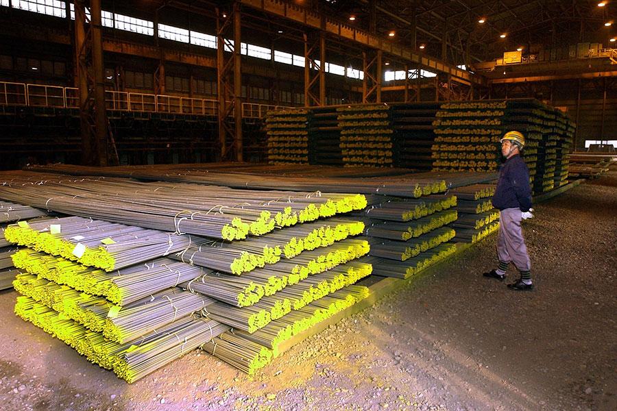 南韓鋼鐵。(KIM JAE-HWAN/AFP/Getty Images)