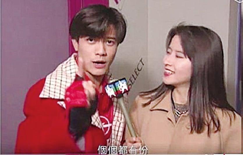 1994年,29歲的郭富城(左)受訪時話,結婚就派利是給每個香港市民。(視頻截圖)。