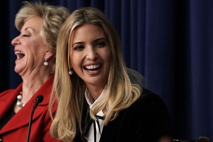 白宮周三宣佈,總統特朗普派女兒伊萬卡率美國代表團於2月25日出席2018年南韓平昌冬奧會閉幕儀式。(Alex Wong/Getty Images)
