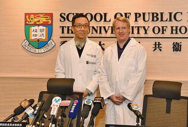 港大研究團隊首次提供實質、直接的實驗證據,證明甲型流感病毒可經由飛沫和空氣途徑傳播,為日後擬定有效的流感控制措施提供參考。(港大提供)