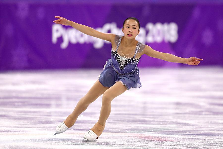圖為中國花式溜冰選手李香凝。(Richard Heathcote/Getty Images)