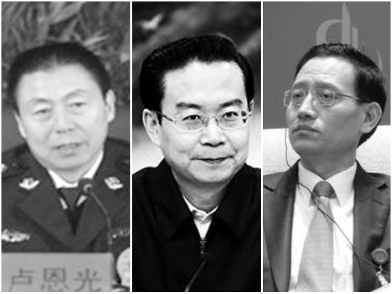 盧恩光(左)、蘇樹林(中)、王銀成(右)近日被檢方提起公訴。(大紀元合成圖)
