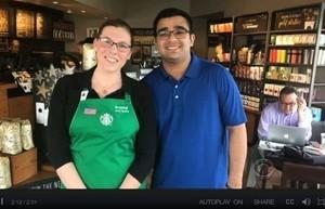 星巴克女咖啡師一張便條 讓聽障男子難忘