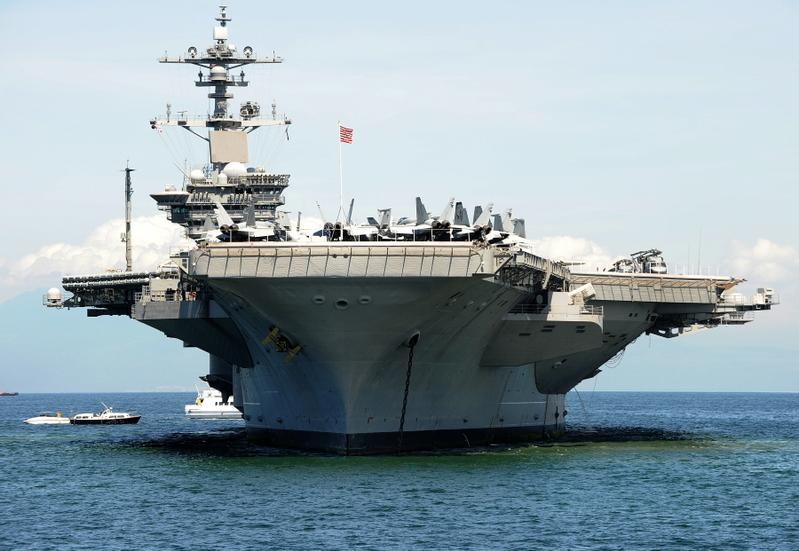 「卡爾文森」號航空母艦將於3月訪問越南。(法新社)