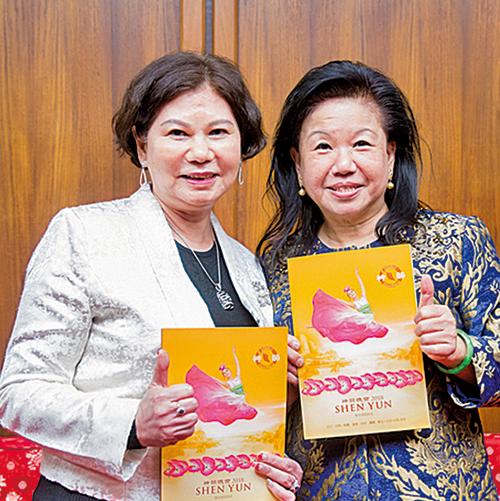 馮叔娟(左)