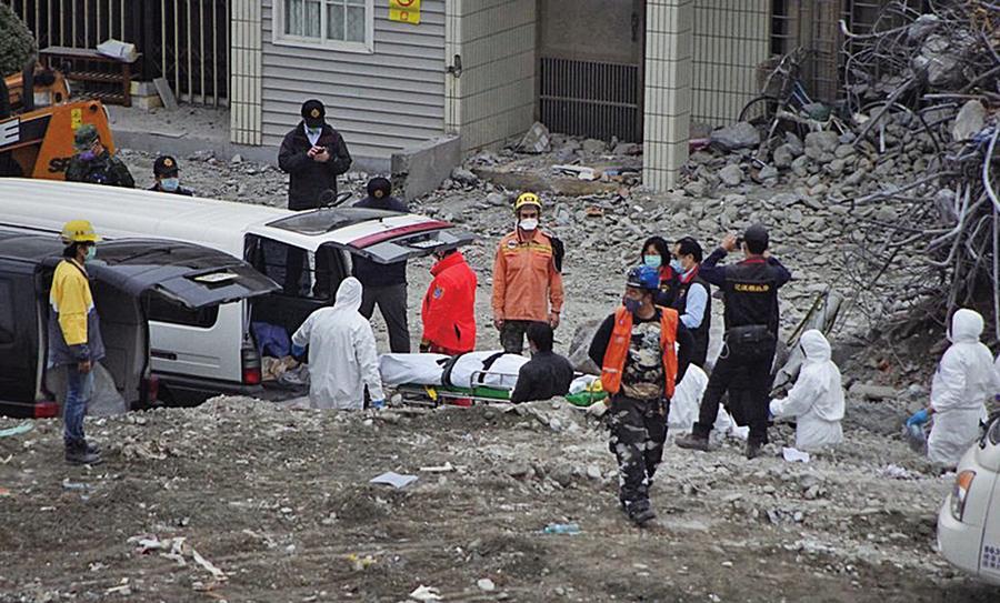 花蓮強震罹難大陸籍夫婦遺體移出