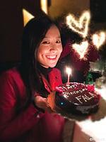 陳法拉素顏慶生照 網民讚自信漂亮