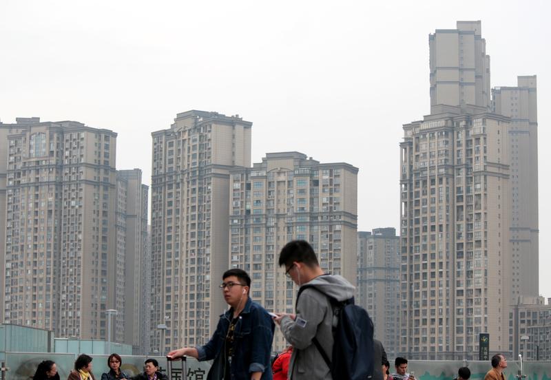 大陸房地產市場正在呈現兩極分化的局面。圖為江蘇常州樓盤。(大紀元資料室)