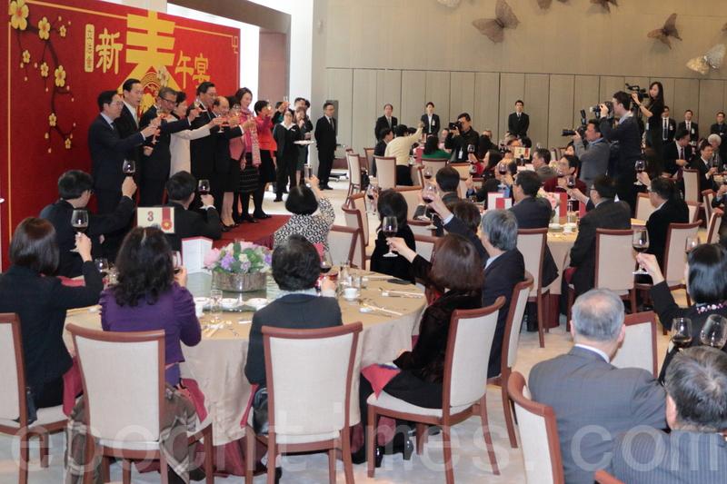 圖片新聞  立法會新年午宴 五泛民議員出席