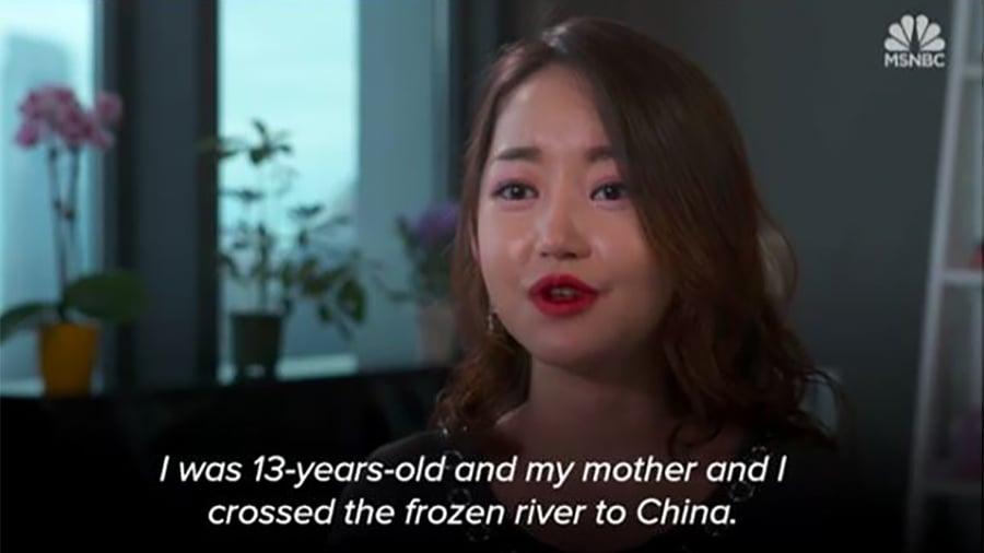 朴延美(Yeonmi Park)是一個禮貌、嬌小、說話柔和的年輕女孩,但她也是北韓暴君金正恩(Kim Jong Un)心中的一根刺。(視像擷圖)