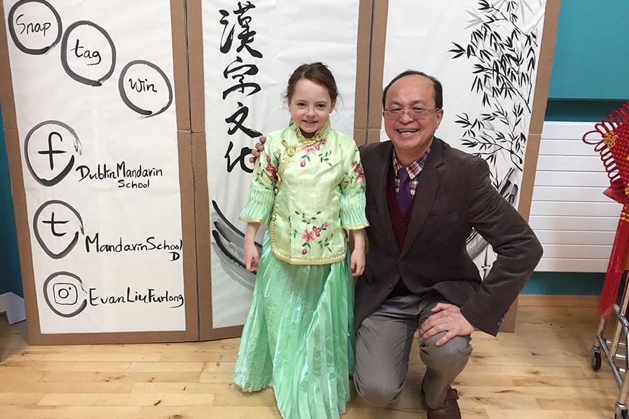 為推廣正體字,駐愛爾蘭代表處及都柏林中文學校25日舉辦海外漢字文化節。(中央社)