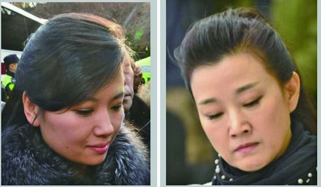 (左)北韓領導人金正恩的初戀情人玄松月。 (右)中共前總書記江澤民的情婦宋祖英。(大紀元製圖)