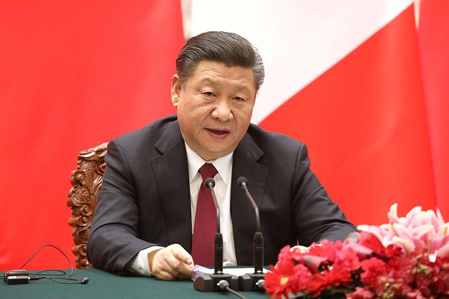 中共近日宣佈將修憲取消國家主席任期,外界多研判這代表中國國家主席習近平的權力已登上高峰,未來將可無限期連任。(LUDOVIC MARIN/AFP/Getty Images)