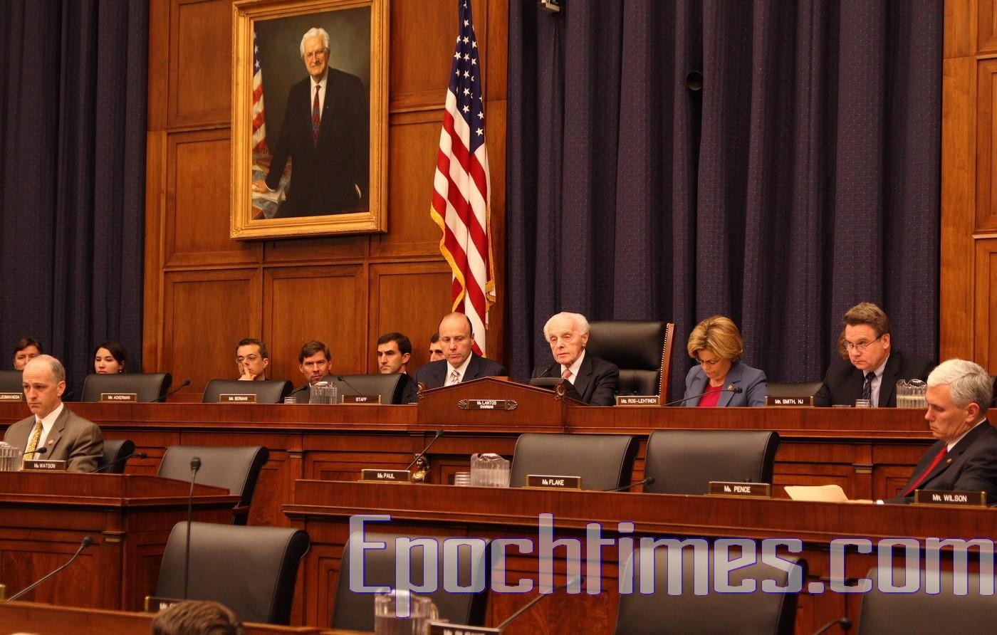 2007年11月6日,美國國會眾議院外交關係委員會再次要求雅虎高層主管在聽證會上作證。(麗莎/大紀元)