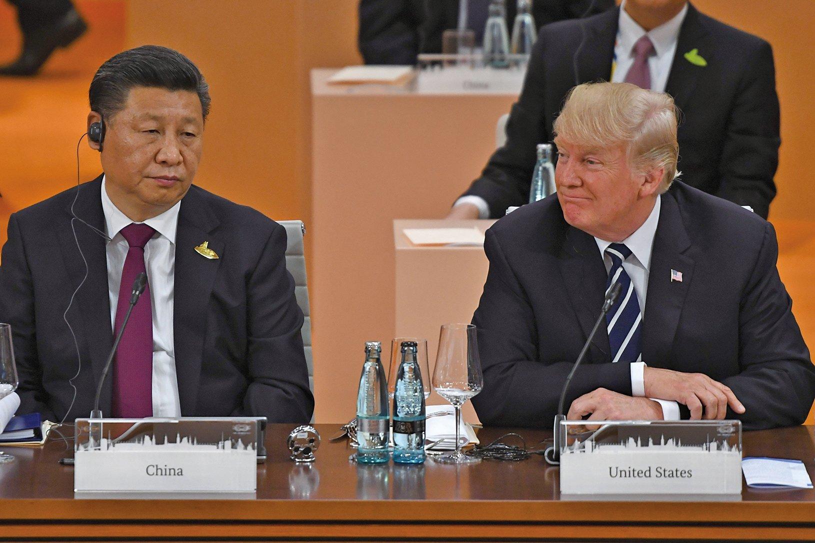 儘管特朗普去年11月份訪華受到盛大接待,但是最近美中之間緊張加劇,特別是貿易方面。(Getty Images)
