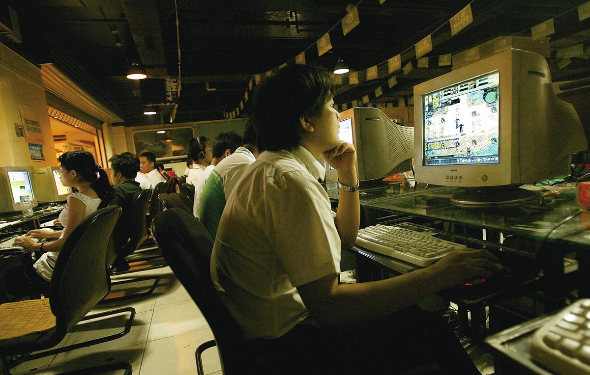 中共當局嚴控言論和封鎖網絡。圖為北京一網吧。(Getty Images)