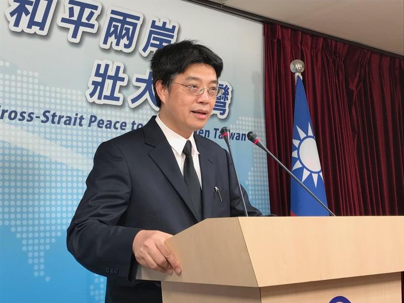 針對中共統戰台灣宣佈31條惠台措施,陸委會表示將持續密注後續發展,以及對台灣相關產業和人才的可能影響。圖為陸委會副主委兼發言人邱垂正。(中央社檔案照片)