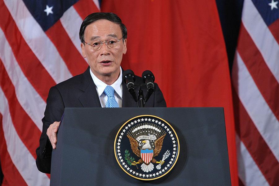 圖為時任副總理的王岐山在2011年出訪美國。(PHILIPPE LOPEZ/AFP/Getty Images)