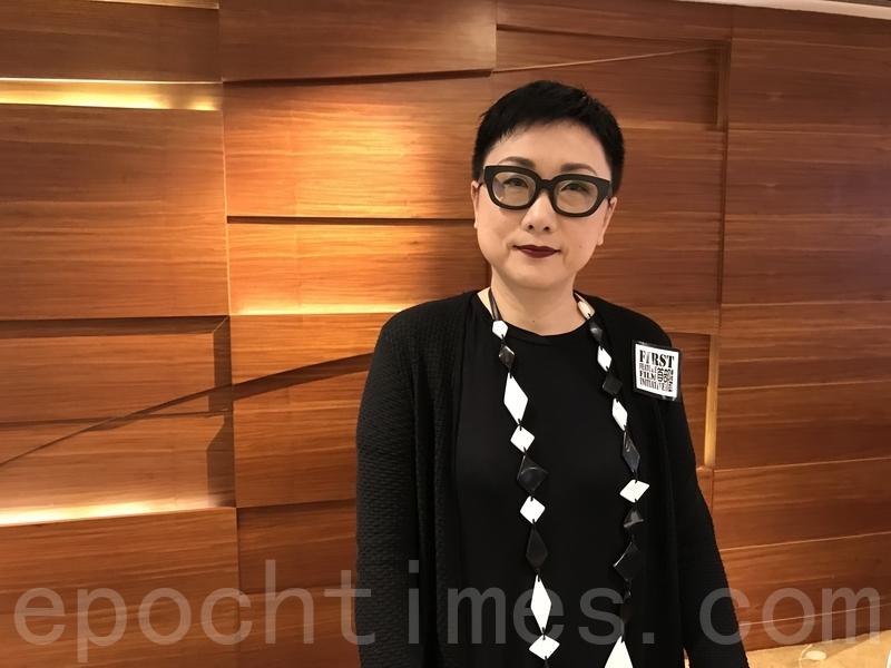 香港電影美術學會副會長劉天蘭。(王文君/大紀元)