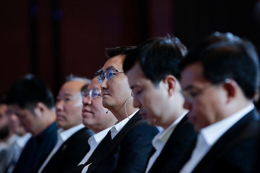 騰訊公司董事會主席兼首席執行官馬化騰兩度當選全國人大代表。據2018年胡潤全球富豪榜,47歲的馬化騰以2,950億元成為全球華人首富。(Lintao Zhang/Getty Images)