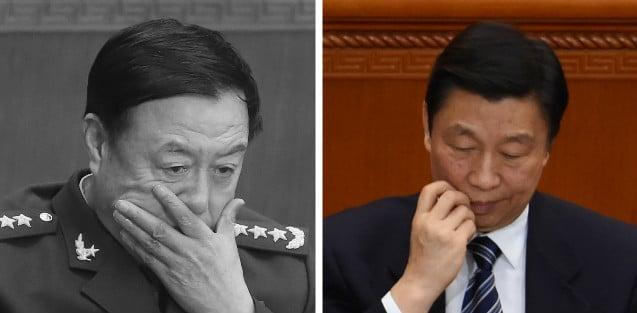 中共全國政協會議開幕當天,醜聞纏身的中共國家副主席李源潮、中共國家軍委副主席范長龍同時出席了會議。(Getty Images/大紀元合成圖)