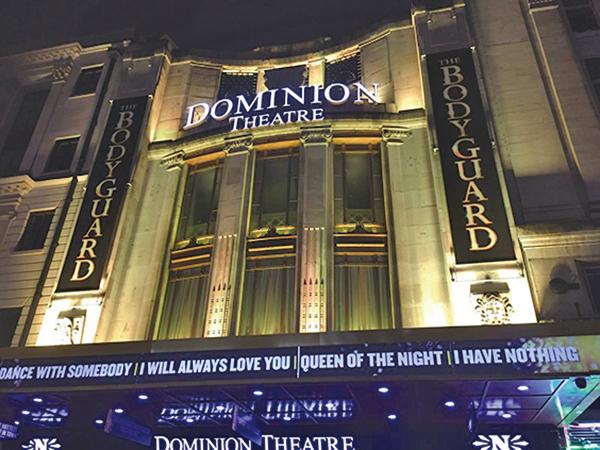 百年歷史的多米尼恩劇院(Dominion Theatre)。(Wikipedia)