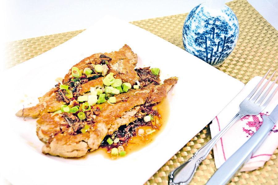 【梁廚美食】XO醬香煎大龍利魚卵