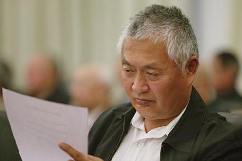 陳小魯日前出殯。陳小魯的遺體沒有覆蓋中共黨旗。(大紀元資料室)