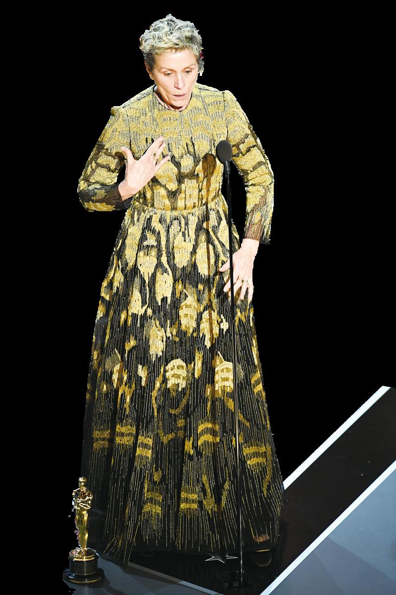 《廣告牌殺人事件》:法蘭絲麥杜文(Frances McDormand)21年後再度獲得最佳女主角。(Getty  Images)