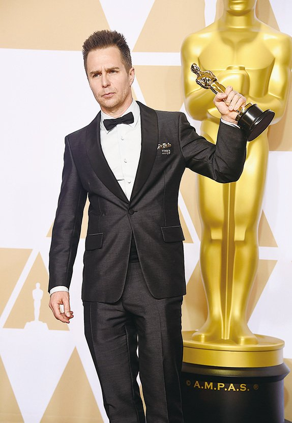 《廣告牌殺人事件》:森洛威爾(Sam Rockwell)獲最佳男配角。(Getty Images)