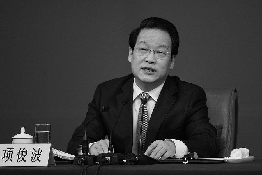 6月14日,中國保險監督管理委員會前主席項俊波受賄案一審開庭。(Getty Images)