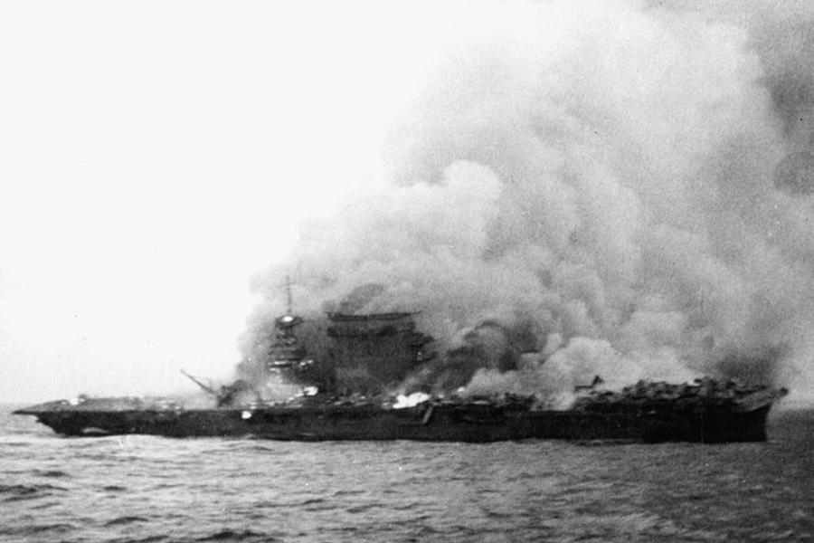 周一(3月5日),由微軟聯合創始人、億萬富豪保羅・艾倫(Paul Allen)領導的探險隊伍宣佈,在距離澳洲海岸500英里外的海域,發現美國列剋星敦號航空母艦(USS Lexington)的殘骸。(維基百科公有領域)